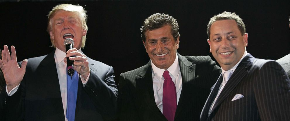 PHOTO: Donald Trump, Tevfik Arif and Felix Sater attend the Trump Soho Launch Party, on Sept. 19, 2007 in New York City.
