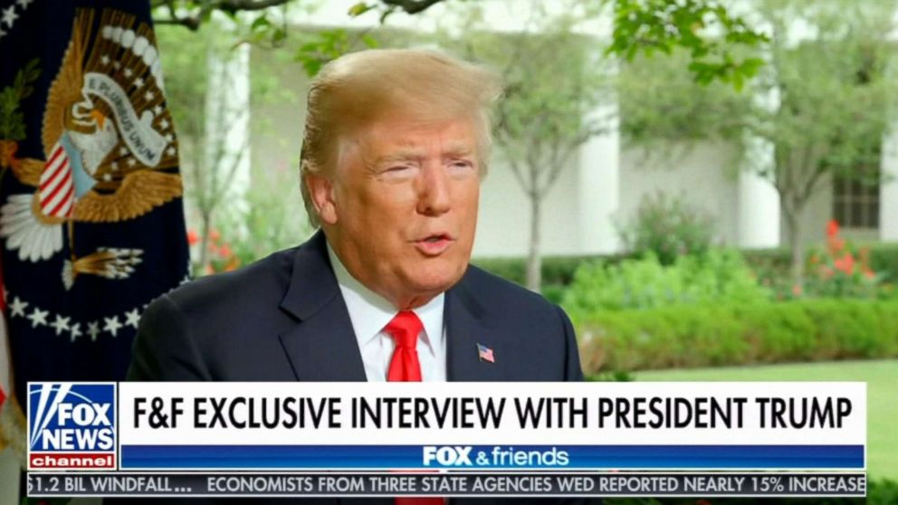 President Trump in an exclusive interview with Ainsley Earhardt which aired Aug. 23 on 'Fox & Friends' at 6 a.m. ET.