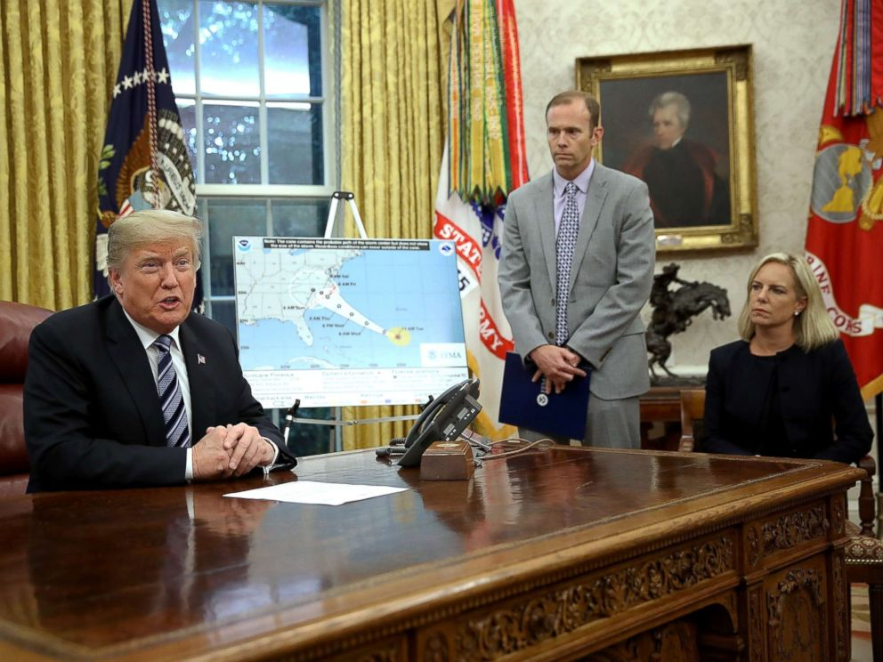President Trump to visit areas affected by Hurricane Florence next week