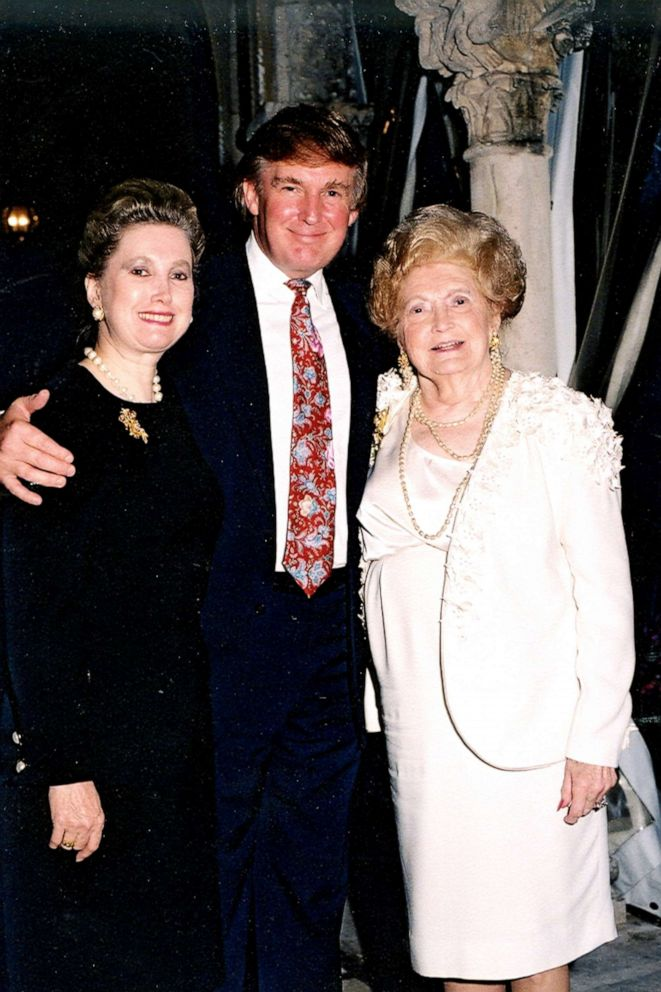 PHOTO: From left, Elizabeth Trump Grau, her brother businessman Donald Trump, and their mother Mary Trump at the Mar-a-Lago estate, Palm Beach, Fla., 1995.