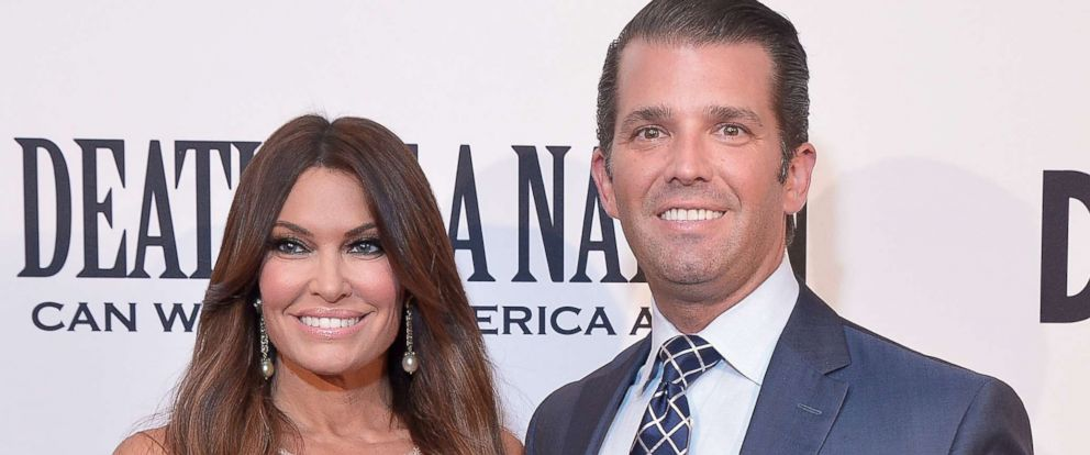 """PHOTO: Donald Trump, Jr. and Kimberly Guilfoyle attend the DC premiere of the film, """"Death of a Nation,"""" at E Street Cinema on Aug. 1, 2018 in Washington, DC."""