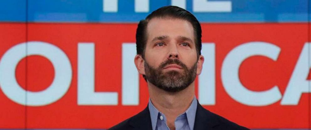 """PHOTO: Donald Trump Jr. appear on ABCs, """"The View,"""" Nov. 7, 2019."""
