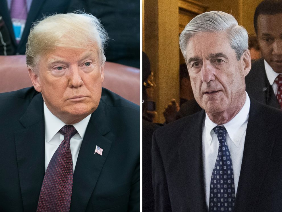PHOTO: President Donald Trump is pictured in Washington, Nov. 16, 2018 and Special Counsel Robert Mueller is pictured in Washington on June 21, 2017.