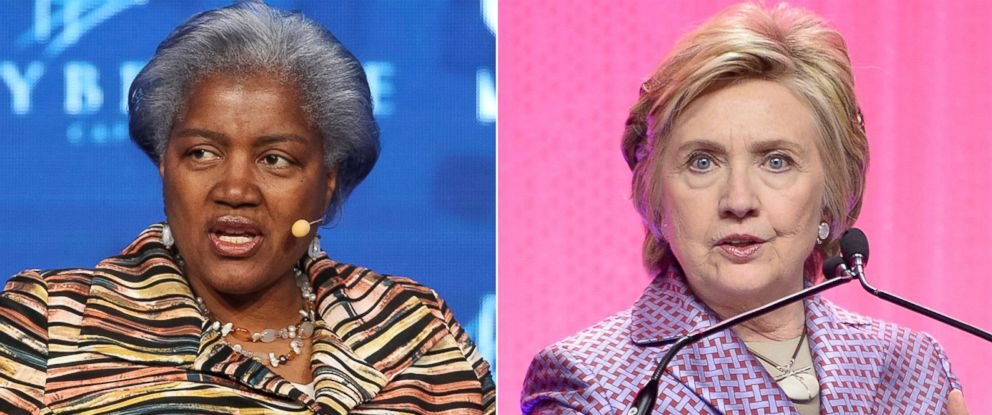 PHOTO: Pictured (L-R) are Donna Brazile in Las Vegas, May 18, 2017 and Hillary Clinton in New York City, May 2, 2017.