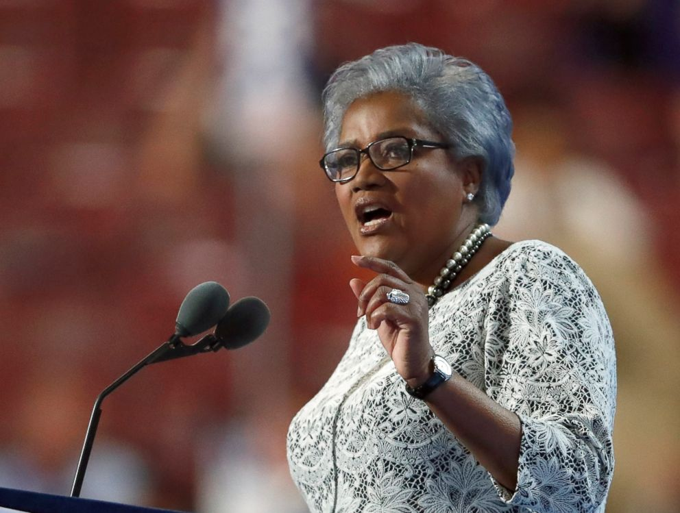 PHOTO: Donna Brazile speaks during the second day of the Democratic National Convention in Philadelphia, July 26, 2016.