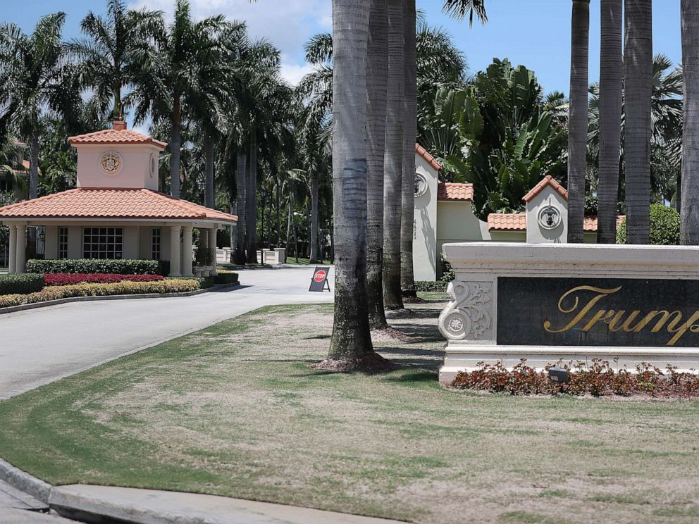 PHOTO: The front entrance at the Trump National Doral golf resort owned by President Donald Trumps company, Aug. 27, 2019 in Doral, Fla.