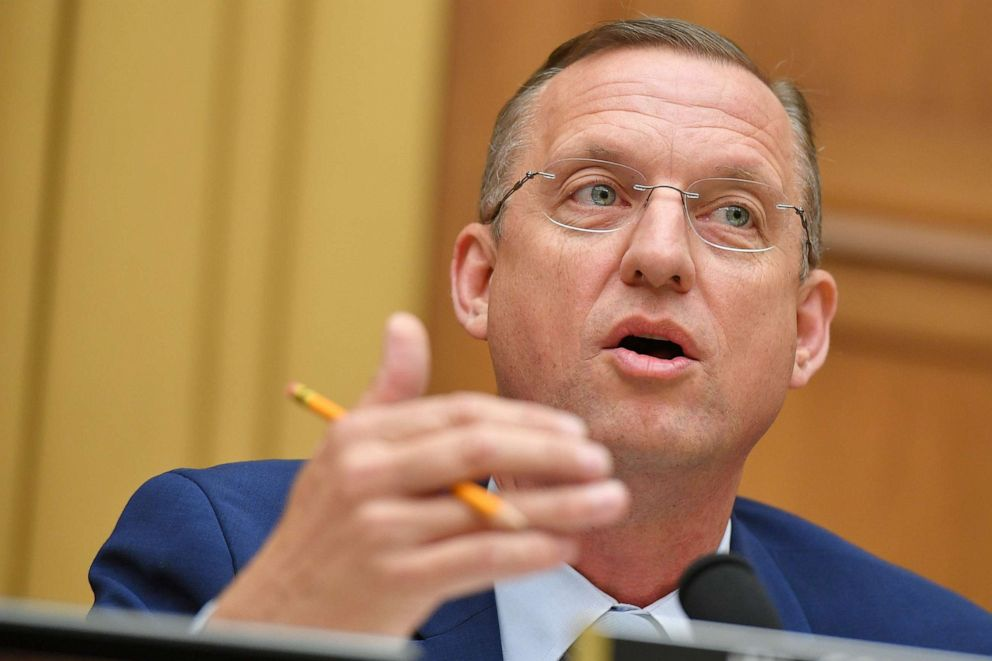 PHOTO: Ranking Member of the House Judiciary Committee, Rep. Doug Collins, speaks during a hearing where former White House lawyer Don McGhan is expected to testify on the Mueller report, on Capitol Hill in Washington, D.C., on May 21, 2019.