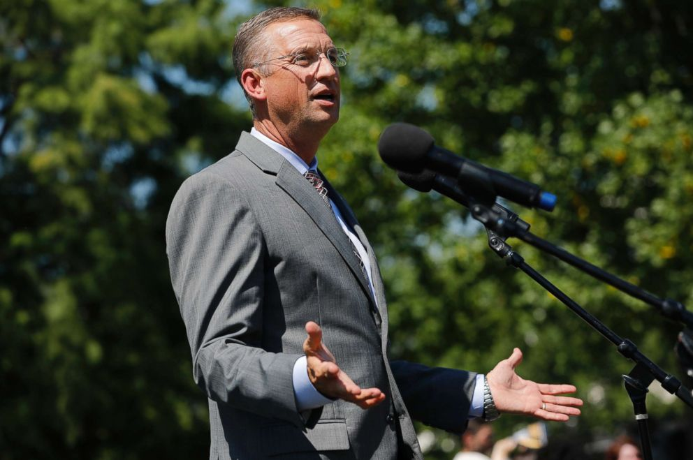 Rep. Doug Collins speaks during a rally calling for criminal justice reform outside the U.S. Capitol on July 10, 2018 in Washington, D.C.