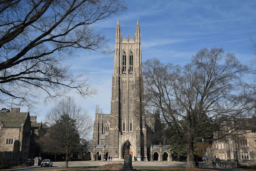 religion PHOTO: A general view of the Duke University Chapel on the campus of Duke University ahead of the game between the Virginia Cavaliers and the Duke Blue Devils on January 27, 2018 in Durham, North Carolina.