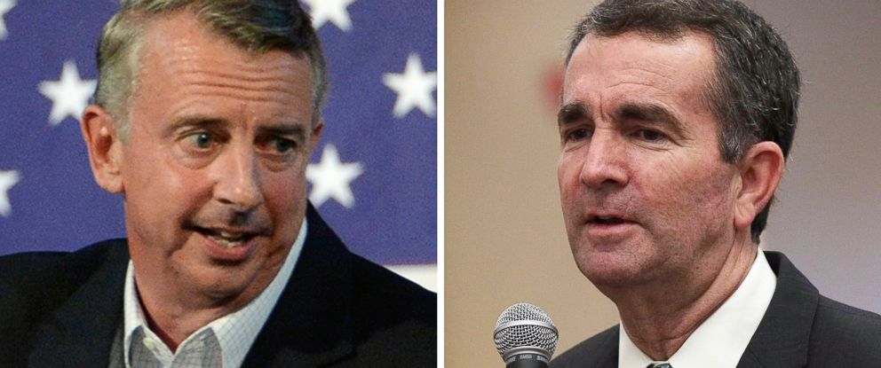 PHOTO: Virginia gubernatorial candidates Ed Gillespie and Ralph Northam speak at separate campaign events in October 2017.