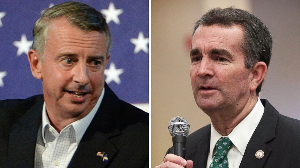 Virginia gubernatorial candidates Ed Gillespie and Ralph Northam speak at separate campaign events in October 2017.