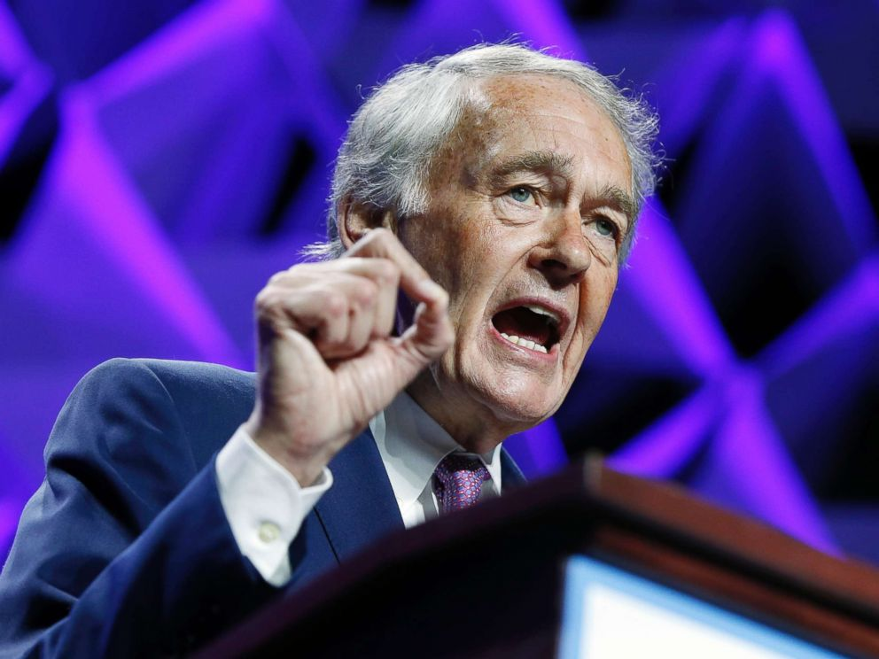 Michael Dwyer  APSen. Ed Markey speaks during the 2018 Massachusetts Democratic Party Convention