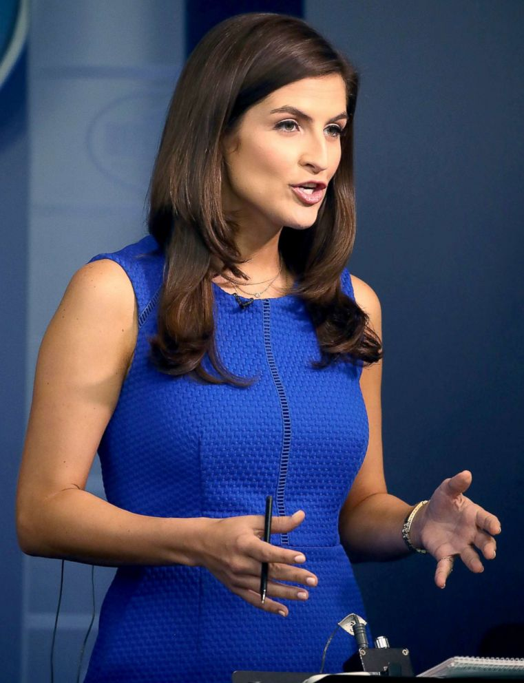 CNN News correspondent, Kaitlan Collins, reports from the briefing room at the White House, on August 2, 2018 in Washington, DC.