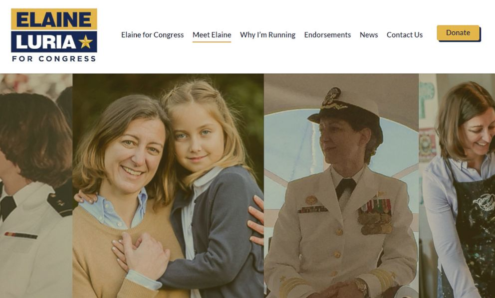 PHOTO: Elaine Luria, candidate for Congress in Virginia, is pictured on the Elaine Luria for Congress website.