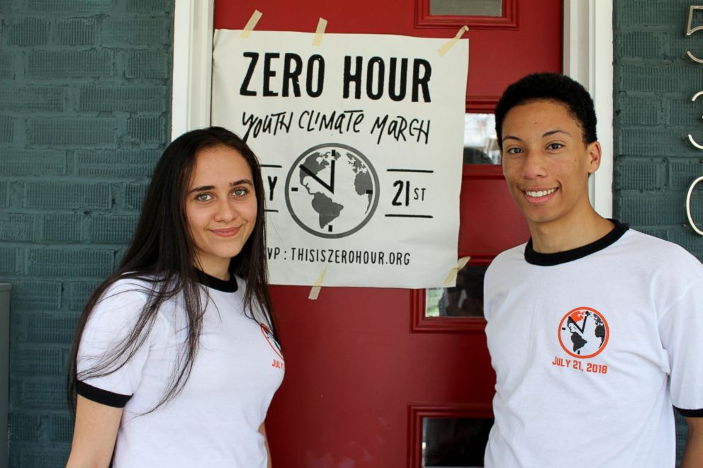 Sohayla Eldeeb, 17, left, and Zanagee Artis, 18, right, are youth activists focusing on climate change and the environment ahead of the 2018 midterm elections.