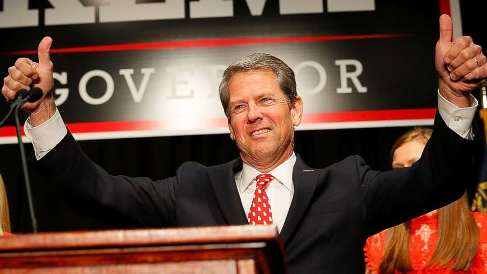 Republican gubernatorial candidate Brian Kemp attends the Election Night event at the Classic Center on Nov. 6, 2018 in Athens, Ga.