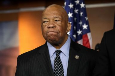 PHOTO: House Oversight and Government Reform Committee ranking member Rep. Elijah Cummings speaks during a news conference at the U.S. Capitol, May 17, 2017, in Washington.