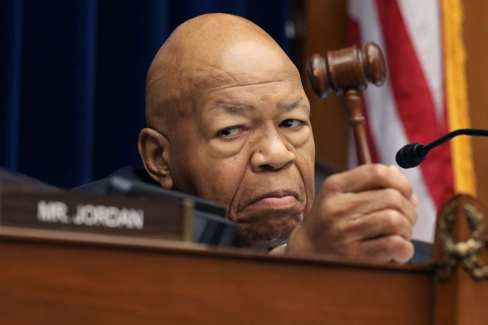 PHOTO:House Oversight and Government Reform Committee Chairman Elijah Cummings (D-MD) holds his gavel as he presides over a hearing on drug