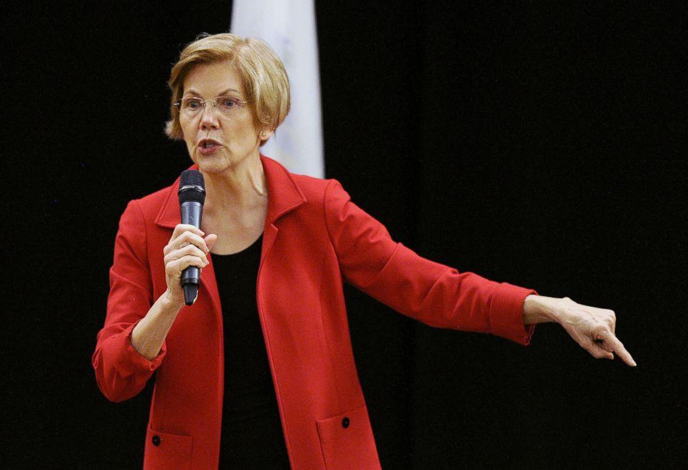 PHOTO: Senator Elizabeth Warren addresses a town hall meeting in Roxbury, Massachusetts, Oct. 13, 2018.