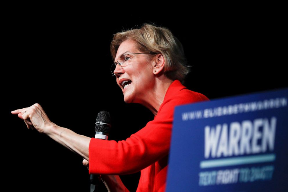 PHOTO: Democratic presidential candidate Sen. Elizabeth Warren speaks during a campaign stop, May 11, 2019, in Cincinnati.
