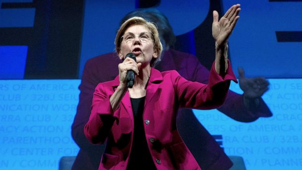 On the campaign trail, Elizabeth Warren furthers calls for impeachment proceedings