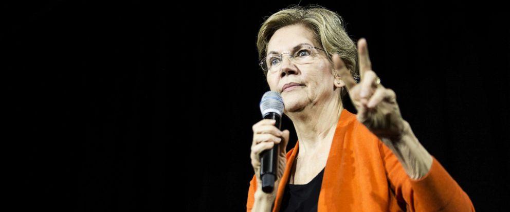 PHOTO: Democratic presidential candidate Sen. Elizabeth Warren, D-Mass., speaks during a town hall event on Oct. 18, 2019 in Norfolk, Virginia.