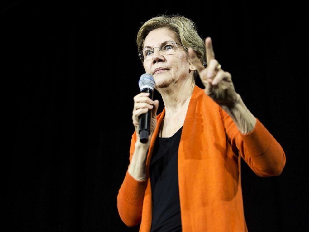 Warren opens up wide lead among voters, Biden slips, poll shows
