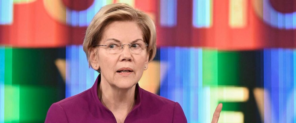 "PHOTO: Senator Elizabeth Warren appears on ABCs ""The View,"" May 30, 2019."