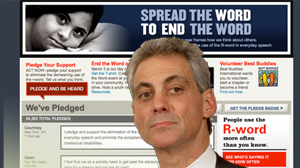 Rahm Emanuel comment and general prevalence of Rwrd