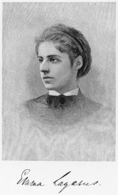 PHOTO: American poet and essayist Emma Lazarus (1849-1887), who wrote The New Colossus, the poem later engraved on the base of the Statue of Liberty.