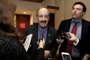 PHOTO: House Foreign Relations Committee Democratic Ranking member Rep. Eliot Engel (D-NY) speaks with reporters after a closed intelligence briefing with CIA Director Gina Haspel on Capitol Hill, Dec. 12, 2018.