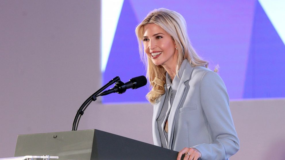 PHOTO: President Donald J. Trump's assistant and daughter Ivanka Trump,  speaks at the