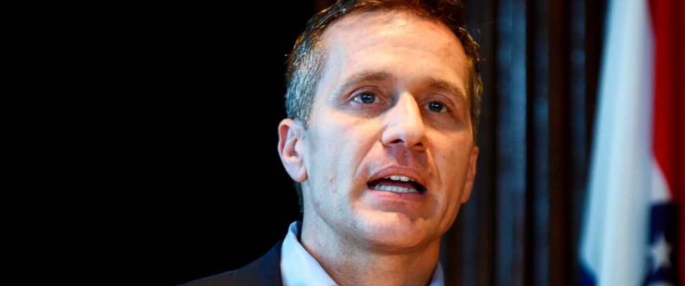 PHOTO: Missouri Gov. Eric Greitens speaks at a news conference in Jefferson City, Mo., about allegations related to his extramarital affair with his hairdresser, April 11, 2018.