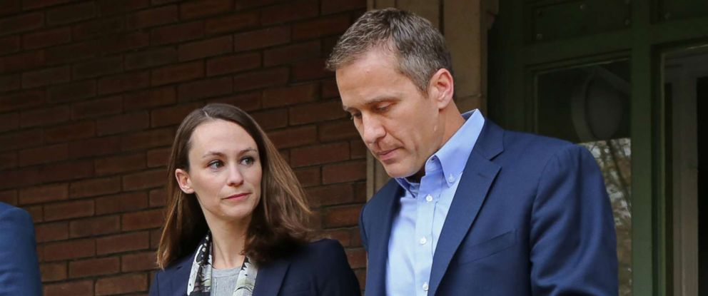 PHOTO: Governor-elect Eric Greitens and his wife Sheena give a press conference on Dec. 6, 2016.