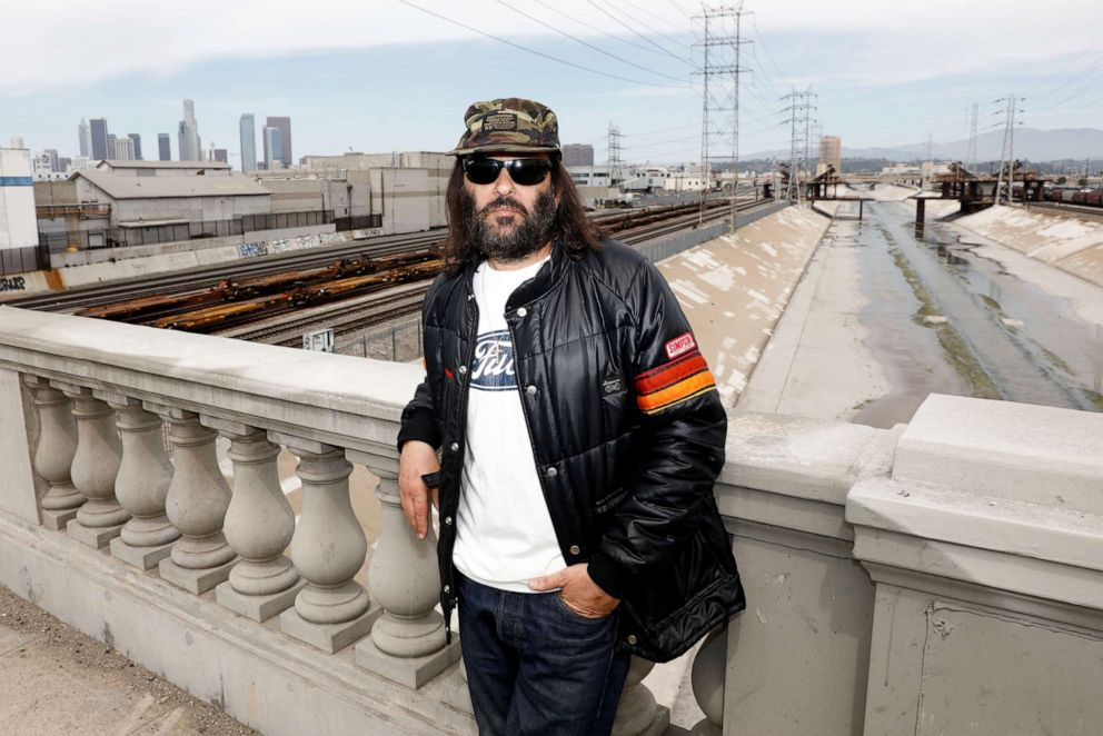 PHOTO:Erik Brunetti, Los Angeles artist and streetwear designer of the clothing brand FUCT, stands for a portrait in Los Angeles, April 7, 2019.