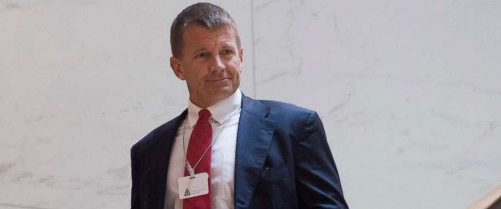 Erik Prince, former Navy Seal and founder of private military contractor Blackwater USA, arrives to testify during a closed-door House Select Intelligence Committee hearing on Capitol Hill Nov. 30, 2017.