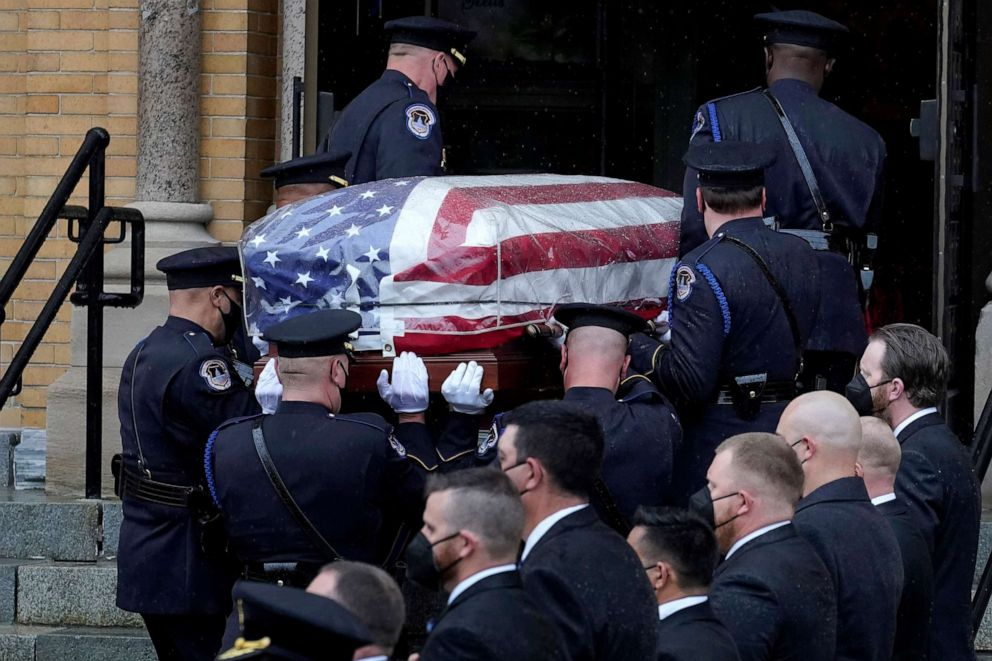 Capitol Police Officer Remembered At Funeral In Massachusetts Abc News