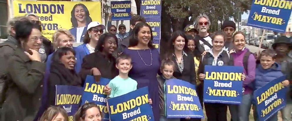 PHOTO: Supporters of San Francisco mayoral candidate London Breed crashed an event for opponent Jane Kim.