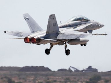 Navy F/A-18 crashes in California, pilot ejected safely