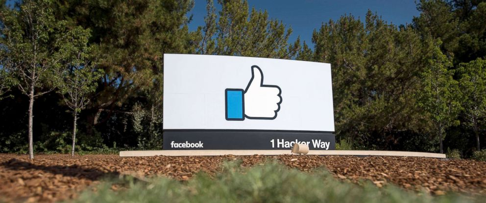 """PHOTO: The """"Like"""" logo is displayed at Facebook Inc. headquarters in Menlo Park, Calif., Oct. 22, 2015."""