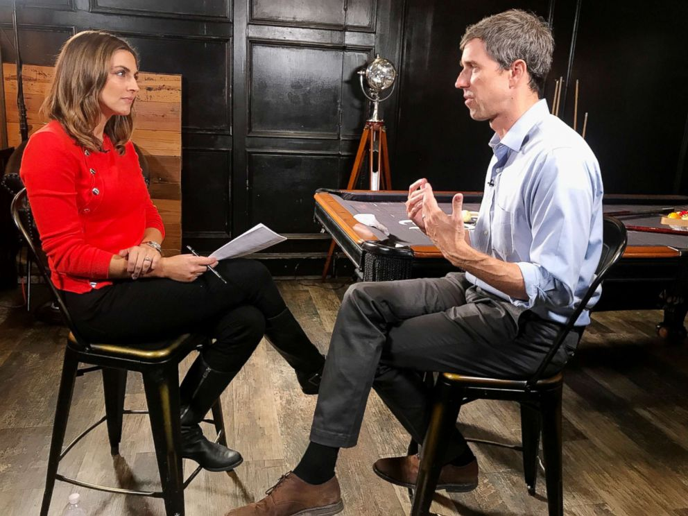 PHOTO: ABC News' Paula Faris sits down with Texas Senate candidate Beto O'Rourke to discuss the midterm elections and other topics.