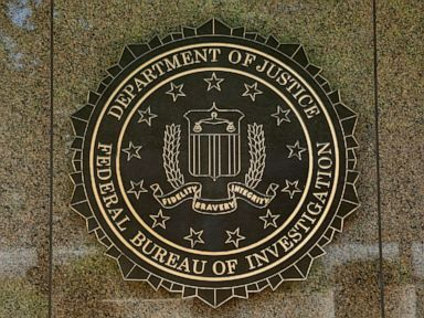 PHOTO: The FBI seal is seen outside the headquarters building in Washington, DC on July 5, 2016.
