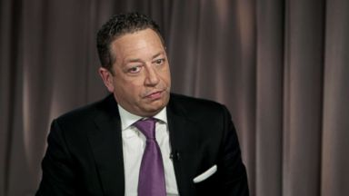PHOTO: Felix Sater, a Soviet-born American businessman who once billed himself as a senior adviser to Donald Trump, speaks to ABC News.