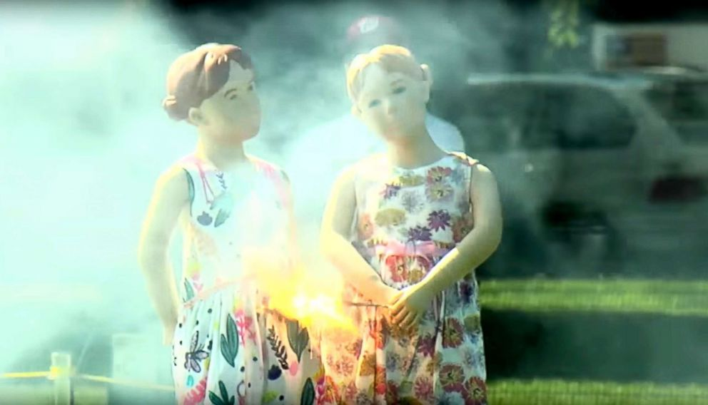 PHOTO: Mannequins are used to demonstrate the dangers of fireworks in the U.S. Consumer Product Safety Commissions 2017 Fireworks Demonstration video.