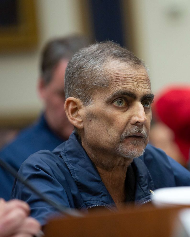 PHOTO: NYPD Detective Luis Alvarez testifies at a hearing on the 9-11 Victims fund before the Judiciary subcommittee on Capitol Hill in Washington D.C. on June 11, 2019.