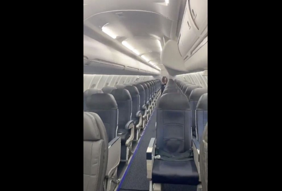 PHOTO: Last week, Vincent Peone was the only customer on his Delta flight from Aspen, Colorado, to Salt Lake City, Utah. He chronicled what the pilot referred to as his private jet experience in a video he posted yesterday to Twitter.