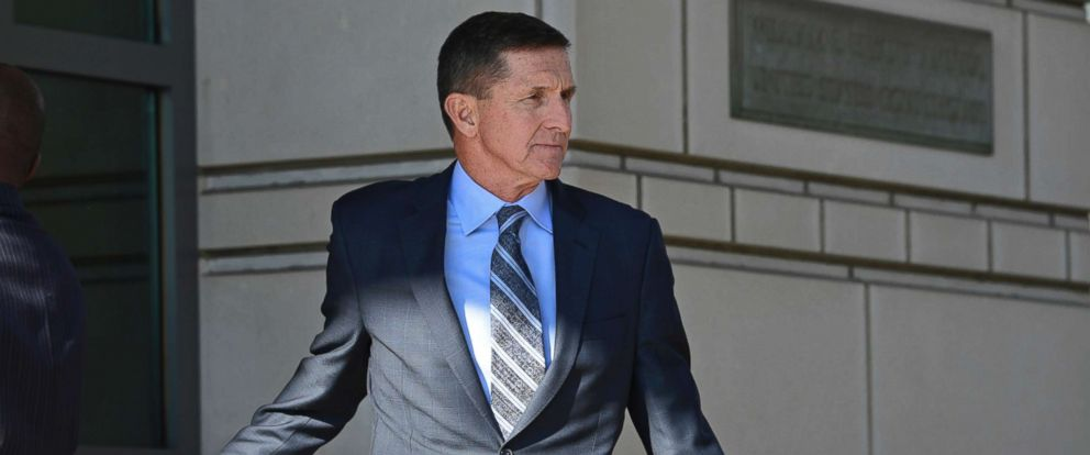 PHOTO: Former Trump national security adviser Michael Flynn leaving the federal court in Washington, Dec. 1, 2017.