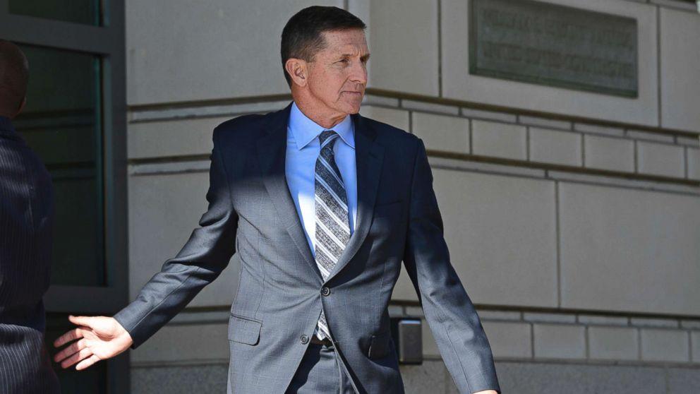 Former Trump national security adviser Michael Flynn leaving the federal court in Washington, Dec. 1, 2017.