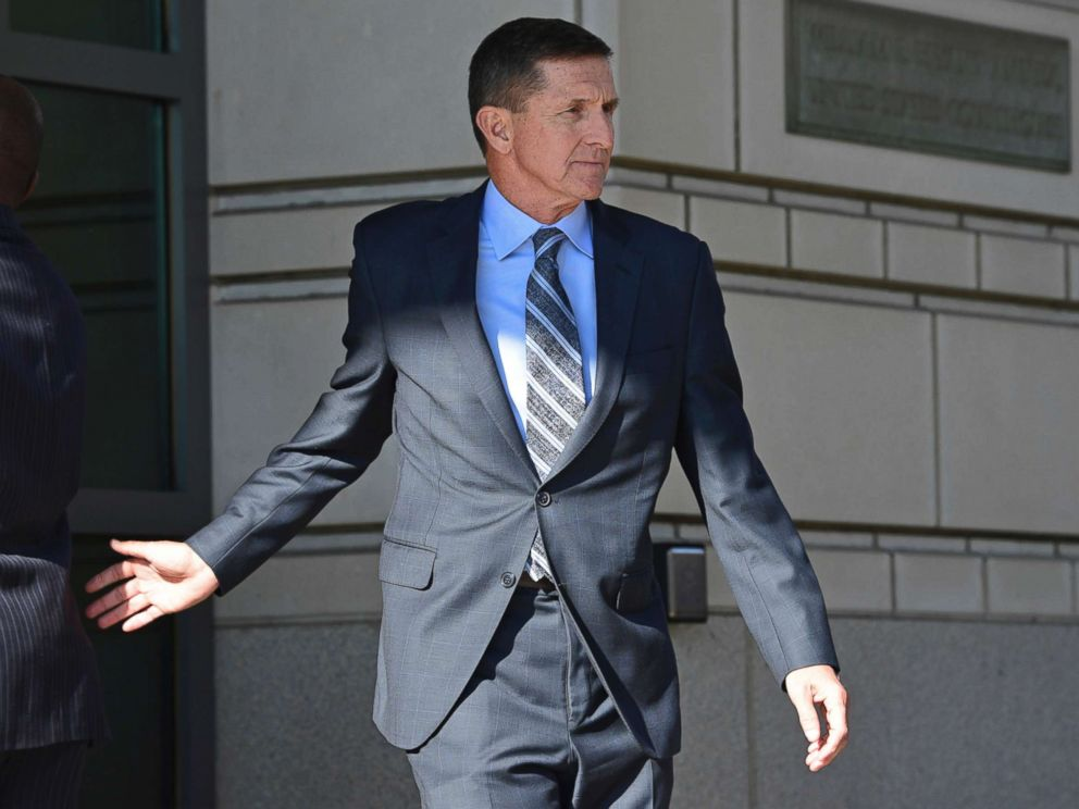 PHOTO: Former Trump national security adviser Michael Flynn leaves the federal court in Washington, Dec. 1, 2017.