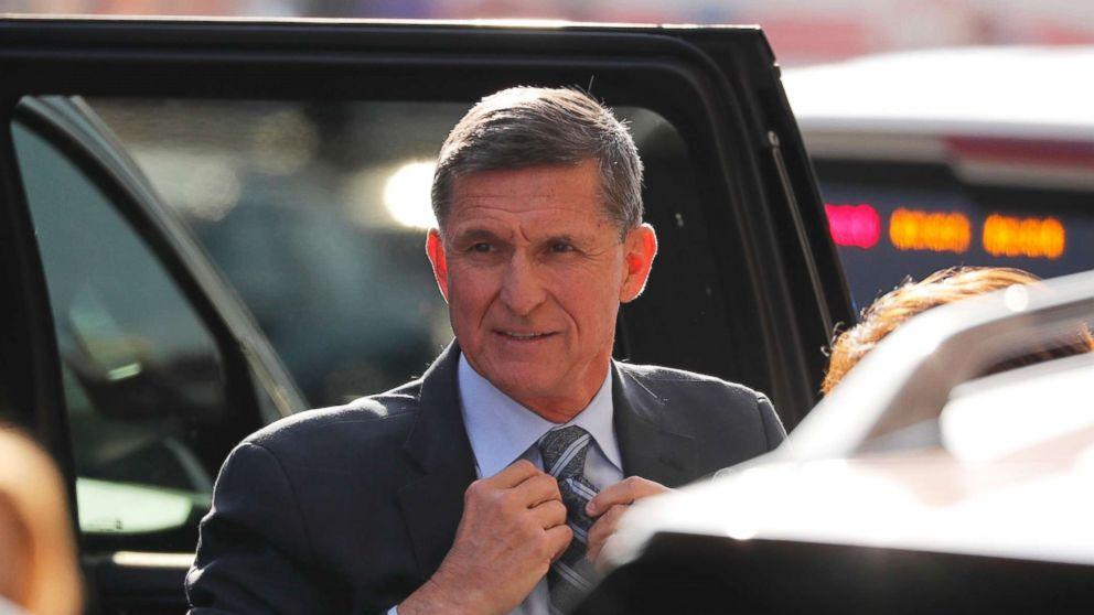 Former U.S. National Security Adviser Michael Flynn arrives for a plea hearing at U.S. District Court, December 1, 2017.